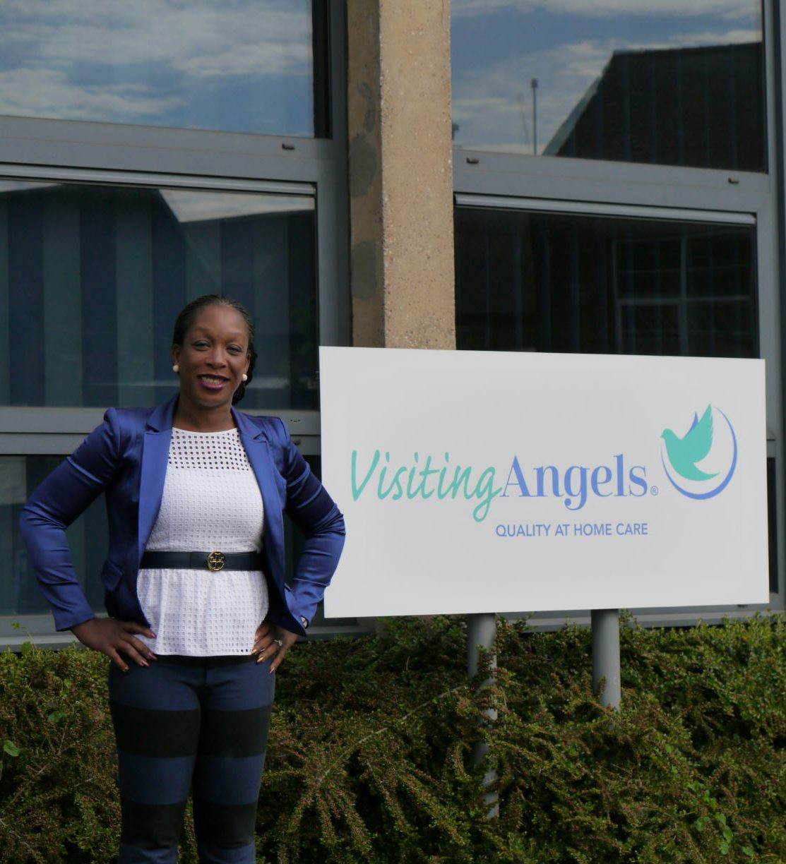 Visiting Angels Company Signage
